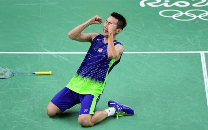 Image result for lee chong wei vs lin dan 2016
