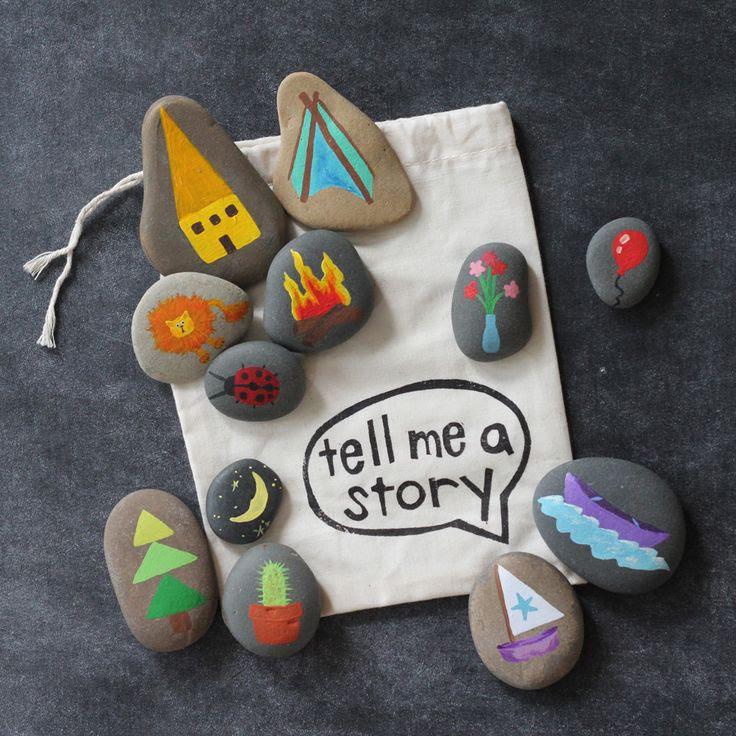 DIY Story Stones. So cute!