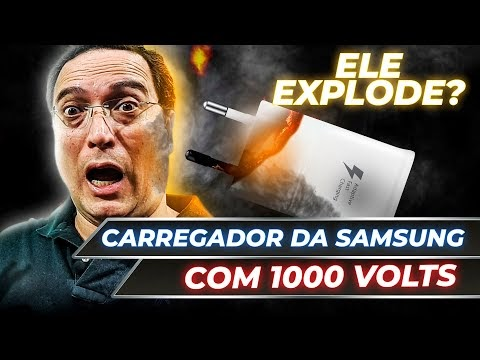 O carregador da Samsung suportou 1000 volts?