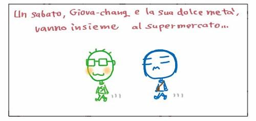 Un sabato, Giova-chang e la sua dolce meta`, vanno insieme al supermercato…