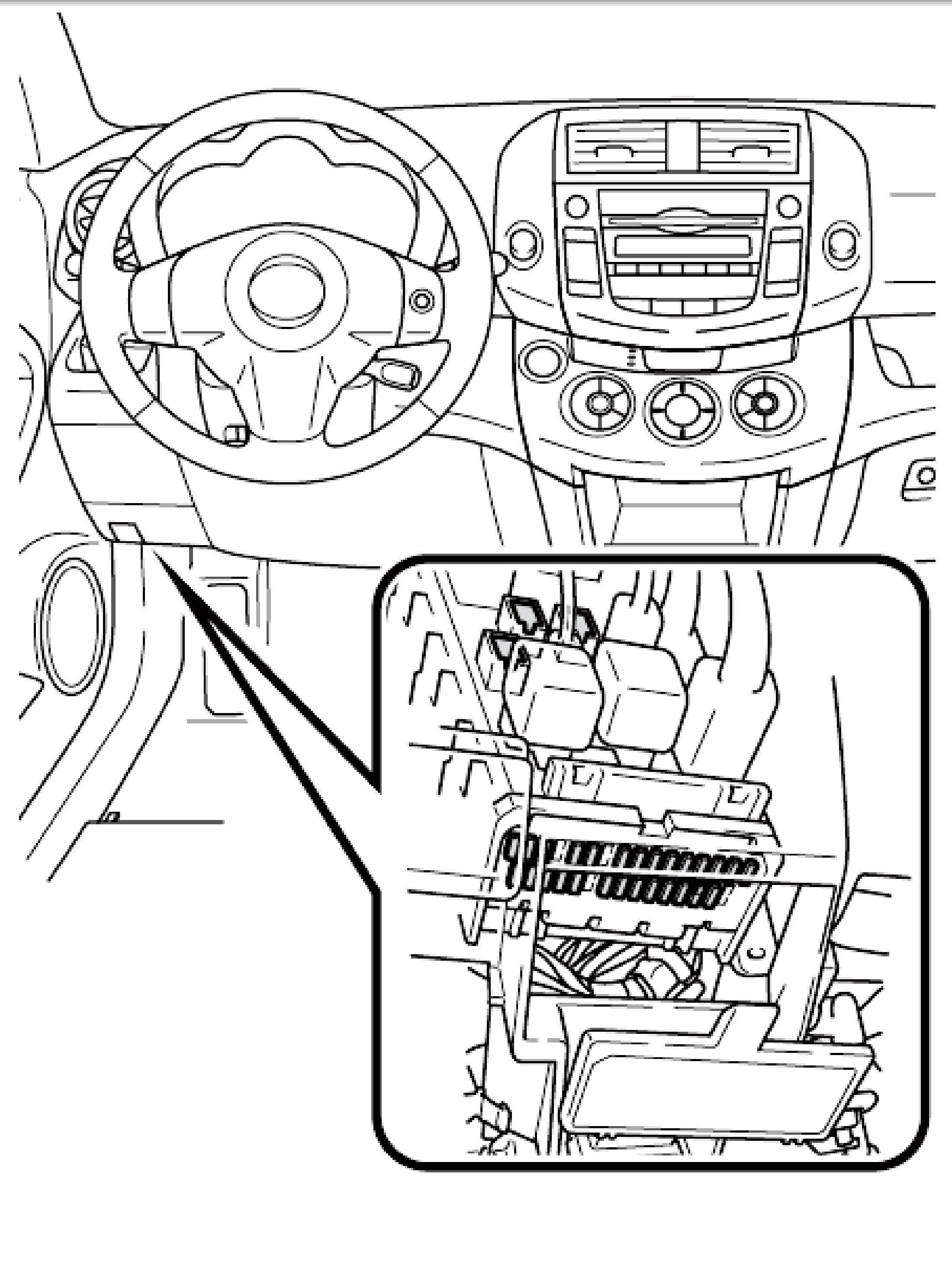 2006 Toyotum Corolla Fuse Box Location