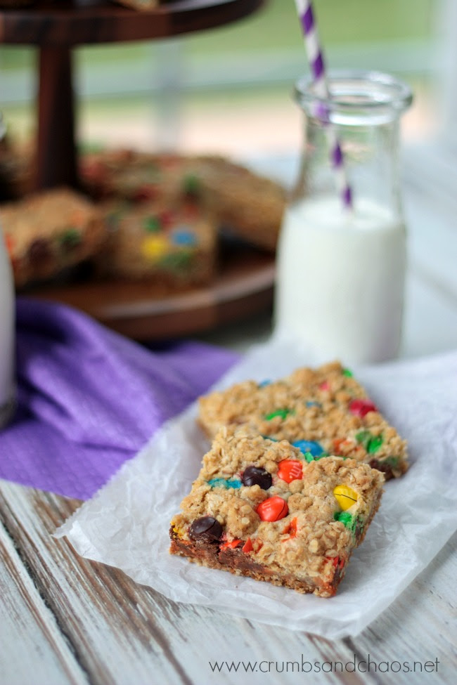 M M Peanut Butter Dream Bars Crumbs And Chaos