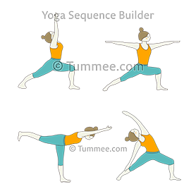 dancer pose yoga sequence  yogawalls