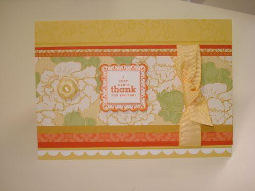 Saffron haiku thank you card