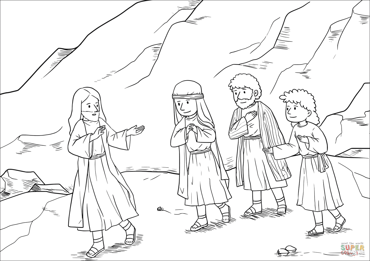 Luxury Moses and Elijah Appear with Jesus Coloring Page ...