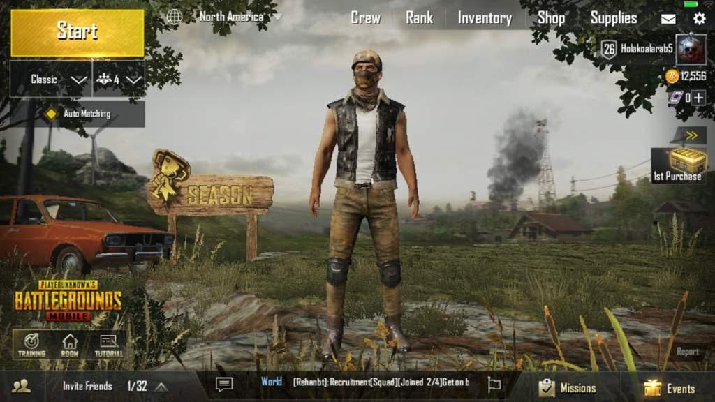 كيف تشتري ملابس في لعبة pubg mobile