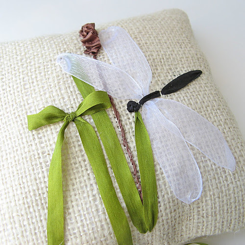 Dragonfly Ring Pillow