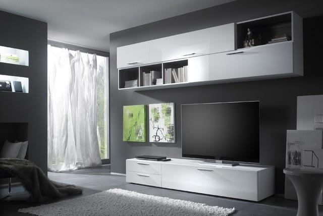Modern Wall Unit TV Media Entertainment Center Club Composition 7 ...