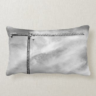 Construction Crane Pillow