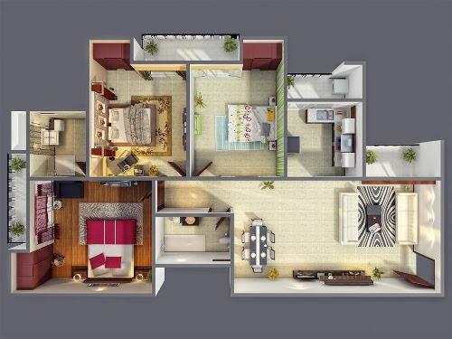 Hunian Representatif Dengan Denah Rumah Tipe 70 1 Lantai Rumahminimalis Com