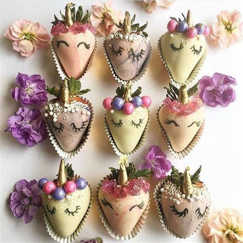 Fresas unicornio   pasabocas   Chocolate covered