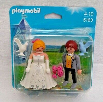 PLAYMOBIL 5163 CITY Life Wedding Bridal Couple Cake topper