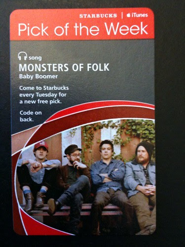 Starbucks iTunes Pick of the Week - Monsters of Folk - Baby Boomer #fb