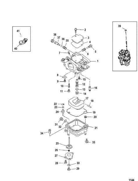 Mercury Marine 9.9 HP (4-Stroke) (323 cc) Carburetor Parts