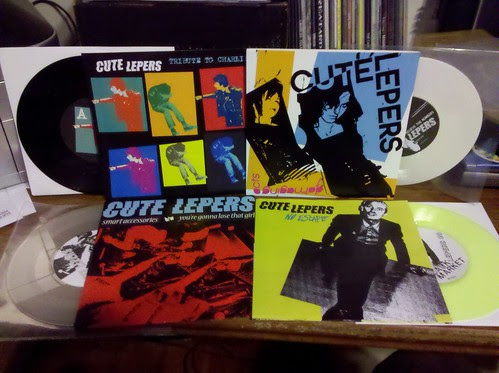"Cute Lepers - 4 7""s - Lots of colored vinyl"