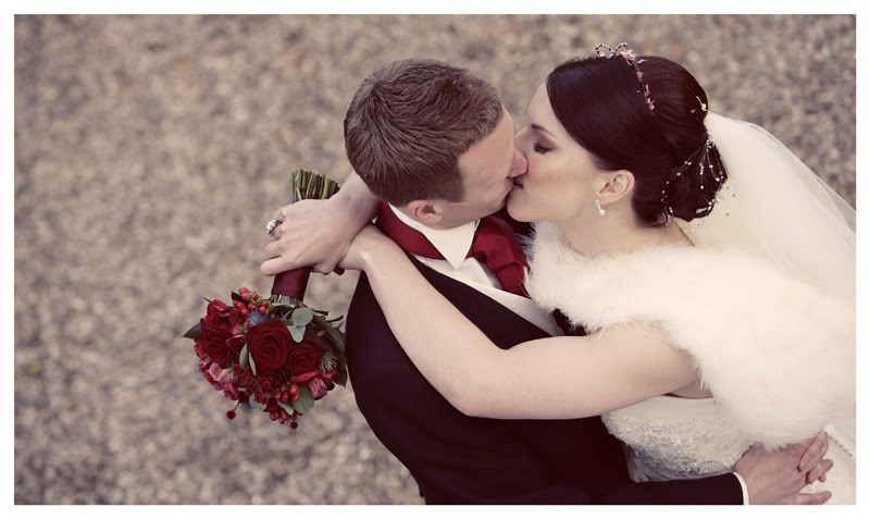 Wedding photography at the Reid Rooms_Essex wedding photography_Phil Lynch Photographer, Vintage image of bride and groom kissing