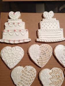 Wedding cake cookies   Cookie Connection