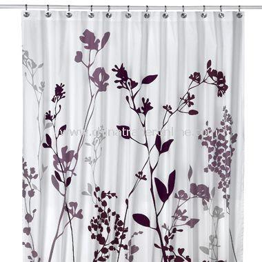 DKNY Home Graffiti Floral Fabric Shower Curtain,Juliet Shower ...