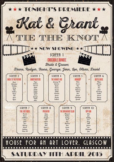 Vintage Cinema Ticket Wedding Invites and Wedding