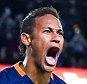 BARCELONA, SPAIN - 06 de janeiro: Neymar de FC Barcelona comemora depois de marcar o quarto gol do seu time durante a Copa del Rey redonda de 16 de primeira mão entre FC Barcelona e RCD Espanyol no Camp Nou em 06 de janeiro de 2016 em Barcelona, Espanha.  (Foto: David Ramos / Getty Images)