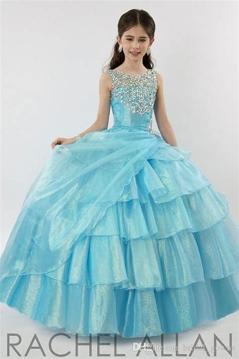 girls pageant dresses blue ball gowns  pageant dresses