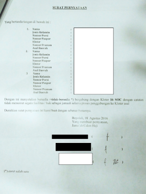 Contoh Surat Permohonan Pendamping Haji Lansia - Barisan