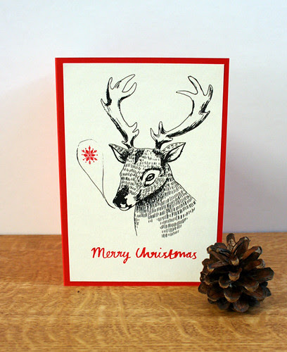merry christmas deers card packs