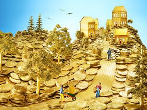 town of gold coins
