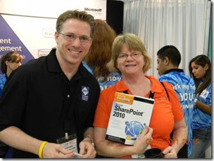 Stephen Cawood book signing How to do Everything SharePoint 2010 at SPSTCDC