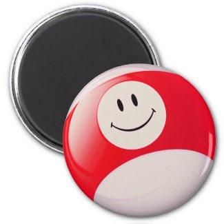 Smiley Face Billiards Ball magnet