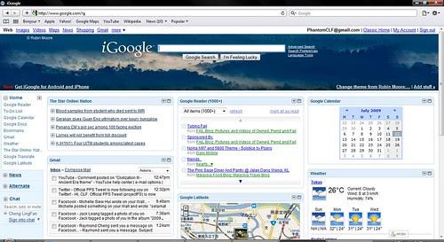 iGoogle on Safari