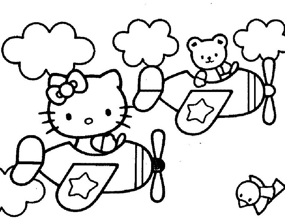 【choisi】 Hello Kitty Coloriage à Imprimer