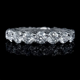3.26ct Diamond Platinum Eternity Wedding Band Ring