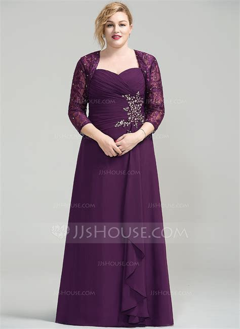 A Line/Princess Sweetheart Floor Length Chiffon Mother of