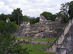 English: North Acropolis, Tikal, Guatemala.