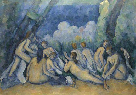 Les grandes baigneuses, par Paul Cézanne