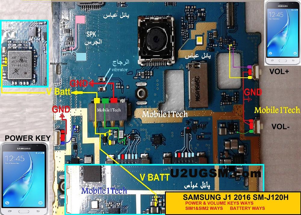 Samsung J1 J120 Insert Sim Card Problem Solution Jumper Ways