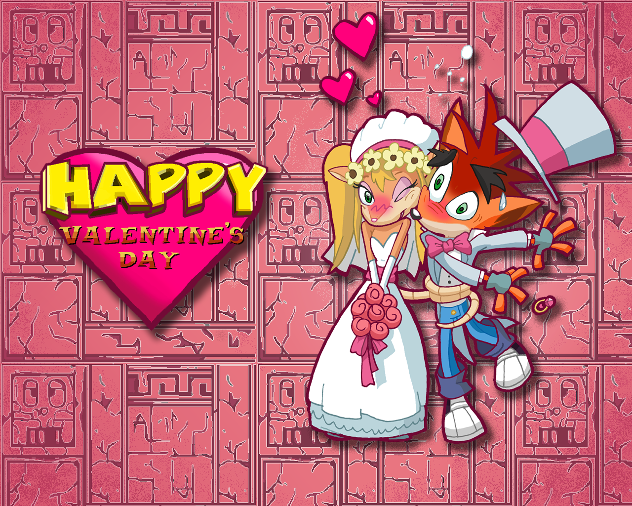 Wallpaper Valentine S Day Crash Bandicoot Wallpaper 37401838