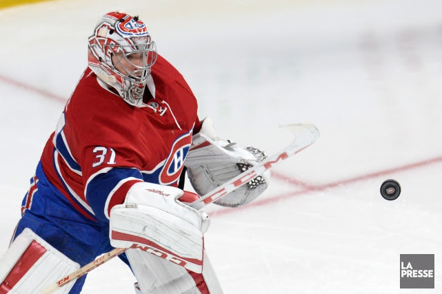 Carey Price a subi une blessure au genou... (PHOTO BERNARD BRAULT, archives LA PRESSE)