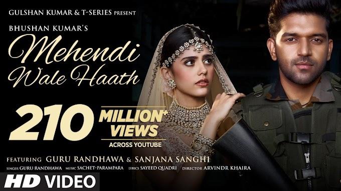 Mehendi Wale Haath |Guru Randhawa Sanjana Sanghi |Sayeed Q Sachet-Parampara Arvindr |Bhushan Kumar - Guru Randhawa Lyrics in hindi
