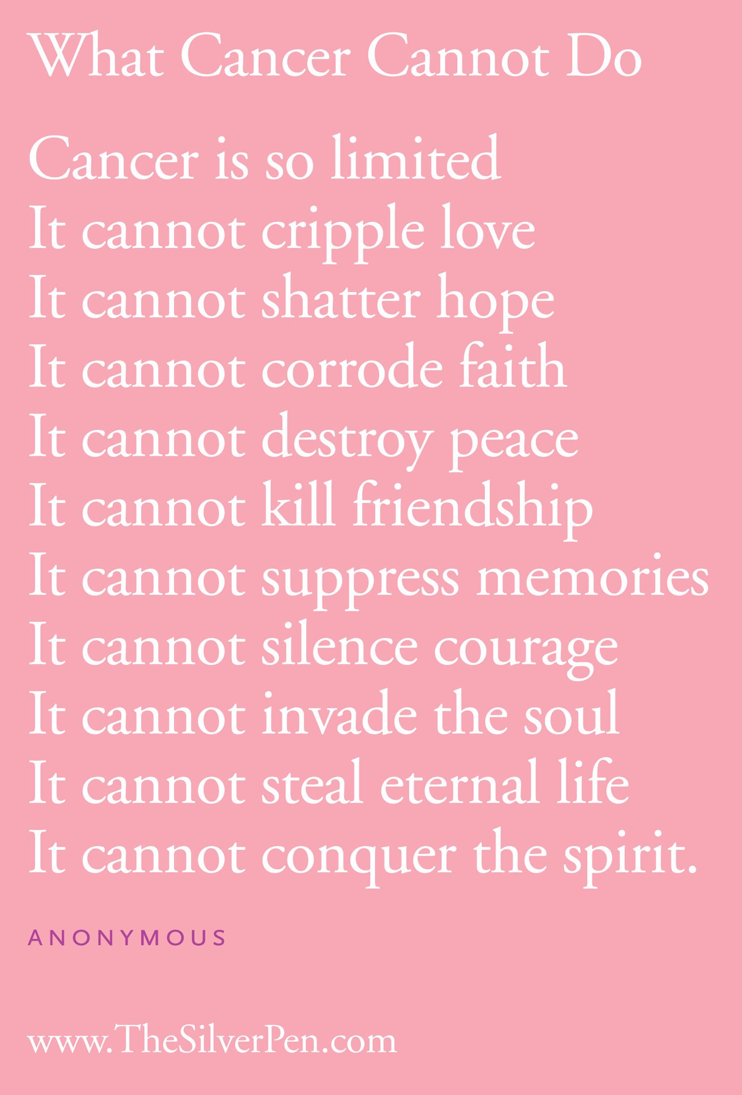 Quotes About Cancer Inspirational 27 Quotes