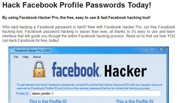 Hack Facebook Profile passwords today