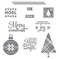 Lots Of Joy Wood-Mount Stamp Set