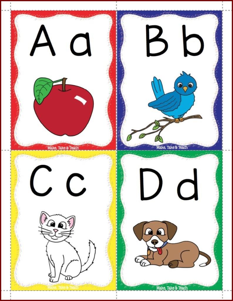 Alphabet Flashcards Freebie! - Make Take & Teach