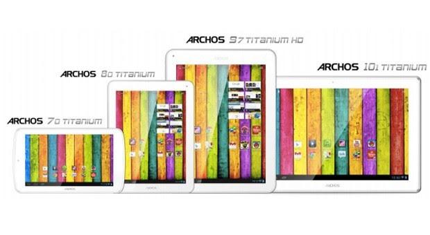Archos presenta quattro nuovi tablet della serie Titanium: 70, 80, 101 e 97 HD