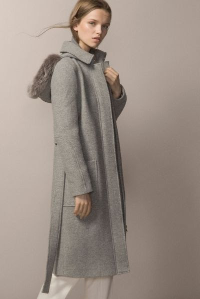Grey Coat With Fur Hood