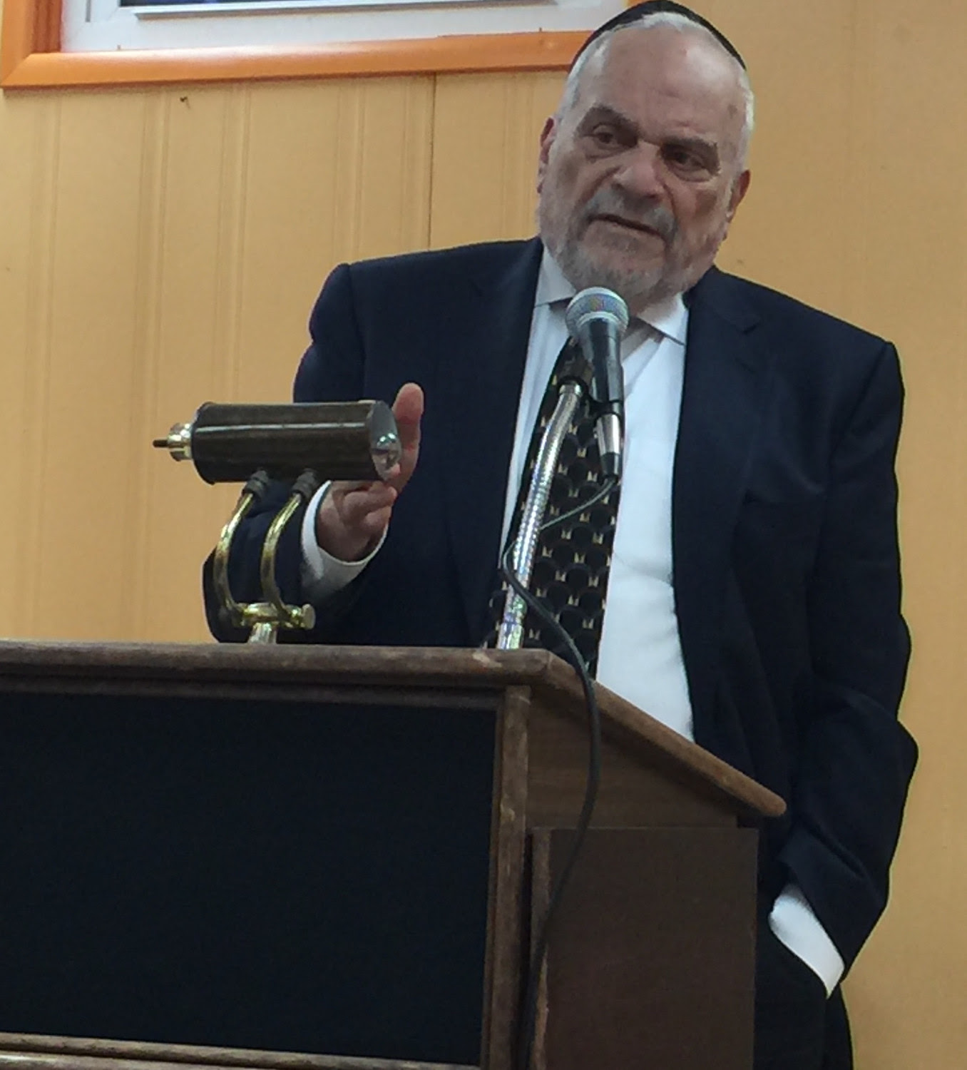 Rabbi Berel Wein, a distinguished Jewish historian, emphasized one of the many points he made about Israel at the Gural JCC last week.