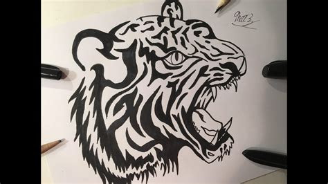 draw  tiger tattoo tattoo art real easy