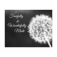 Fearfully and Wonderfully Made Bible Verse Stretched Canvas Print