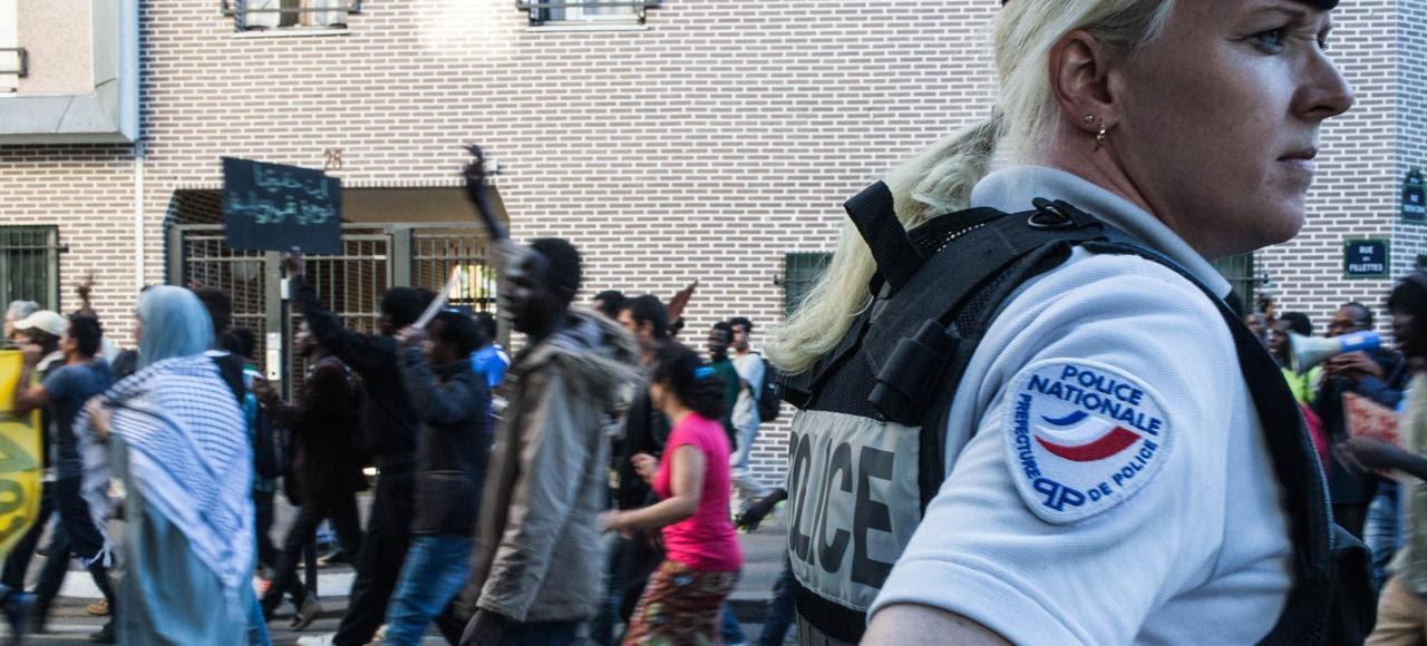 Manifestation, le 11 juin dernier, en faveur de l'accueil des migrants, Porte de la Chapelle à Paris.